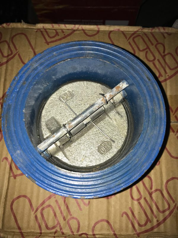 Клапан обратный поворотный двухдисковый