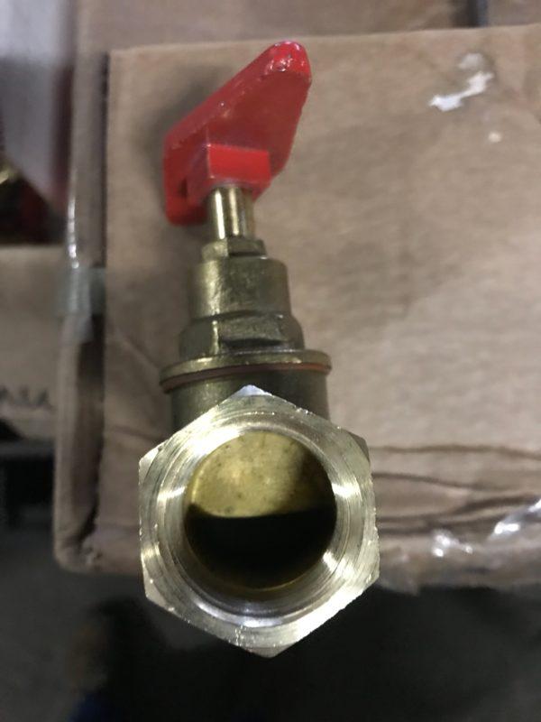 Вентиль (клапан) запорный латунный 15б1п Ду