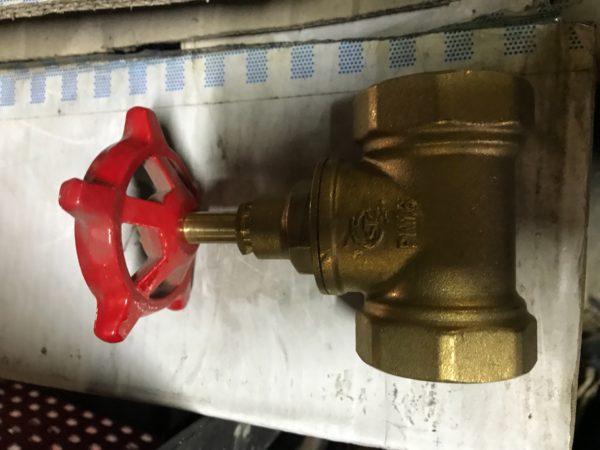 Вентиль (клапан) запорный латунный 15б1п