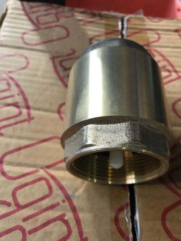 Клапан обратный латунный пружинный с пластиковым штоком