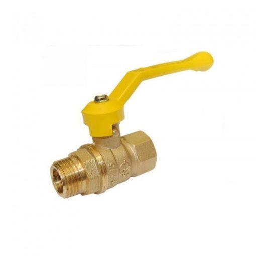 Кран латунный газовый 11б27п м/р рычаг